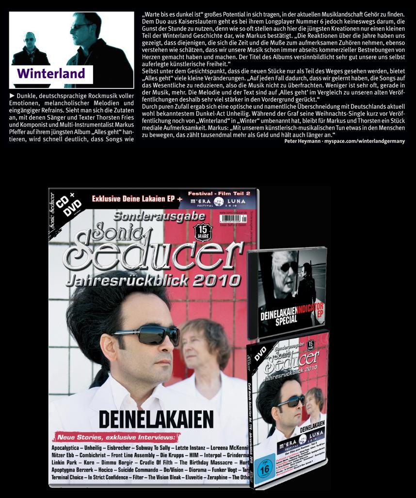 Winterland-Artikel im Sonic Seducer Jahresrückblick 2010