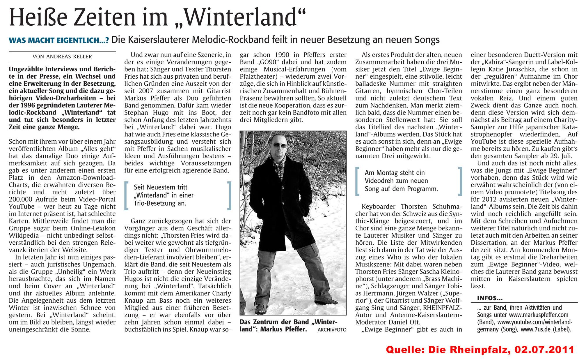 Winterland Presse-Artikel