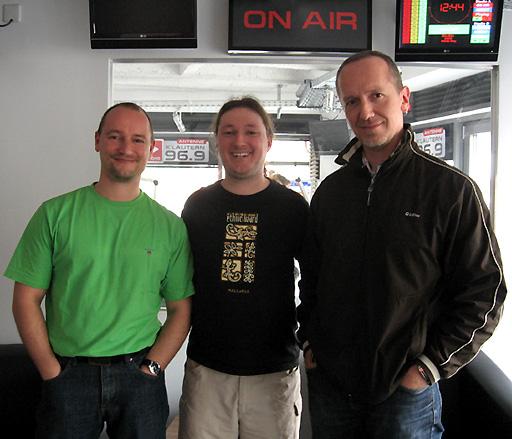 Winterland bei Antenne KL, v.l.n.r.: Markus Pfeffer, Daniel Ott (Moderator), Stephan Hugo