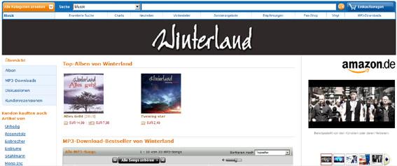 Winterland Künstlerseite auf Amazon.de
